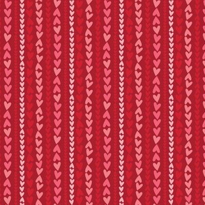 Heart Stripes on Red