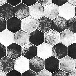 ocean mosaic black & white