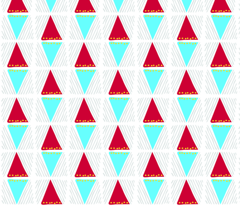 Africa Inspired Triangles fabric by tanobes on Spoonflower - custom fabric
