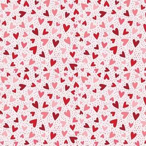 Heart Confetti pale pink small