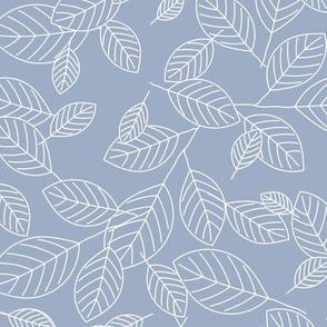 Kiss Summer Goodbye: Dusty Blue Drifting Leaves