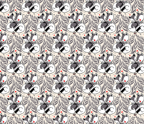 Be my valentine fabric by theboutiquestudio on Spoonflower - custom fabric