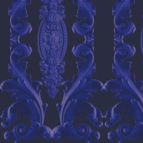 Navy Baroque Oblong