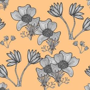 Overlapping Flowers_Orange