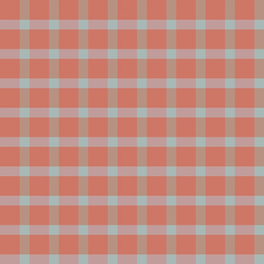 plaid-mars coral grey