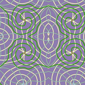 purple and green lines