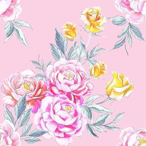 Peony Power Marshmallow Pink