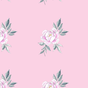 Peony Co-ordinate Marshmallow Pink