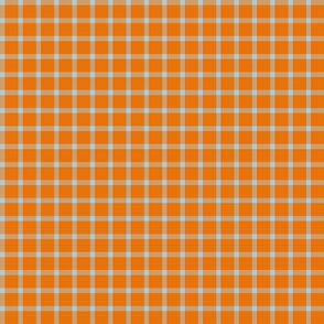 plaid coral orange green