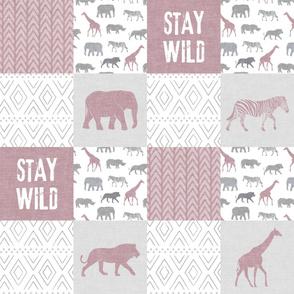 Stay Wild - Safari Wholecloth - Mauve