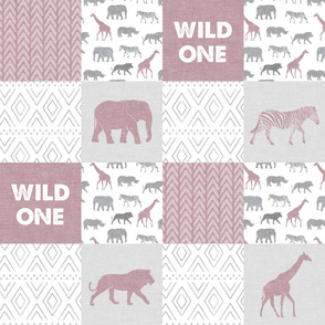 Wild One - Safari Wholecloth - Mauve
