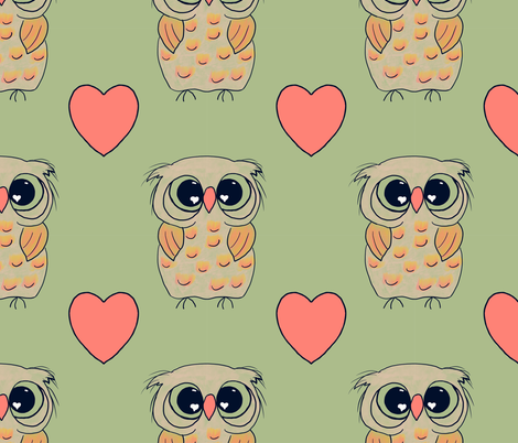 Owl Always Love You fabric by heart_journey_studio on Spoonflower - custom fabric