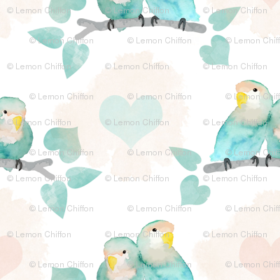 Pastel Lovebirds