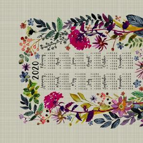 2020 Floral TeaTowel
