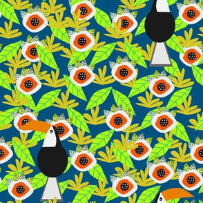 Tropical vibe with toucans
