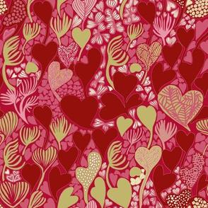 Sea Hearts - Red