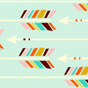 Large Arrows: Horizontal Mint