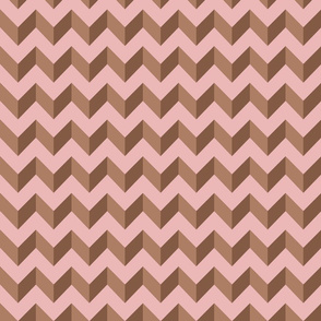 Pink and brown chevrons