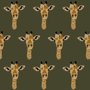 Geoffrey the giraffe in dark olive