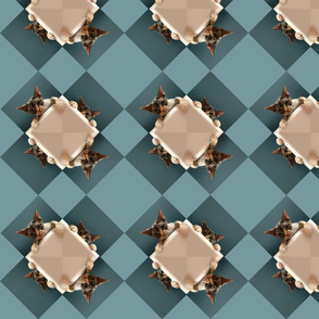 Peeking Cat Checkerboard