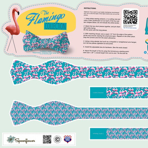 DIY Bow Tie - Flamingo - Aqua