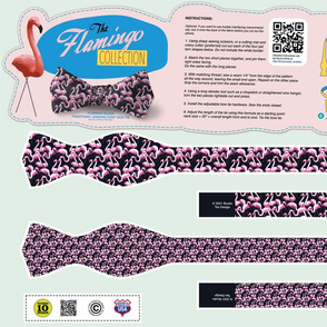 DIY Bow Tie - Flamingo - Black