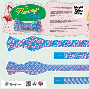 DIY Bow Tie - Flamingo - Blue