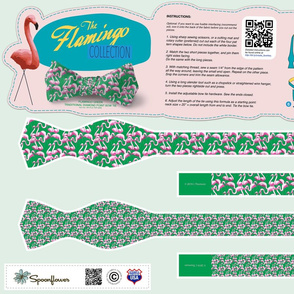 DIY Bow Tie - Flamingo - Green
