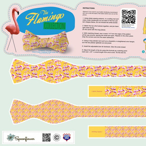 DIY Bow Tie - Flamingo - Yellow
