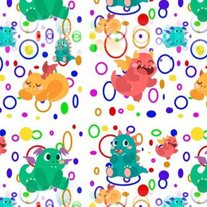 Baby Dragons with Circles