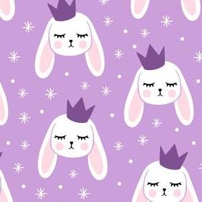 Bunny Princess - purple - easter spring rabbit bunnies LAD19