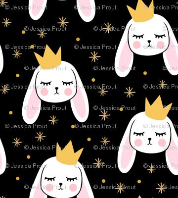 Bunny Princess - black - easter spring rabbit bunnies LAD19