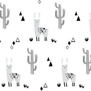 small llamas and cacti -neutral