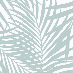Fronds Palladian Blue on white