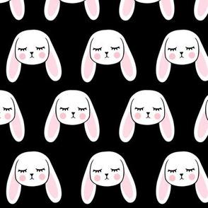 floppy eared bunny - easter / spring - bunnies - black LAD19