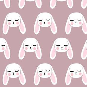 floppy eared bunny - easter / spring - bunnies - mauve LAD19