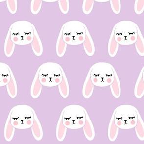 floppy eared bunny - easter / spring - bunnies - purple LAD19