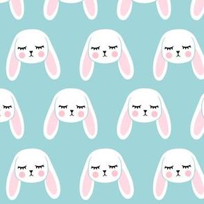 floppy eared bunny - easter / spring - bunnies - blue LAD19