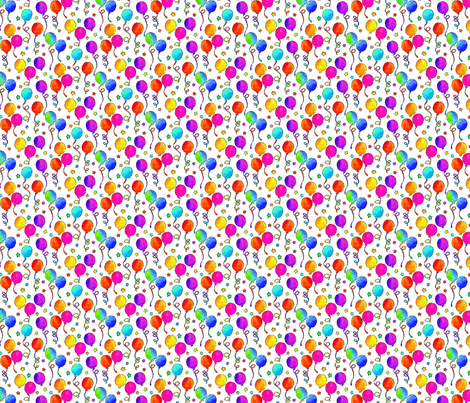 It's A Party, Very Smallest/on White fabric by ileneavery on Spoonflower - custom fabric