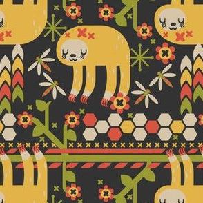 Geometric Sloth Pattern