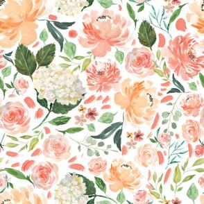 peaches floral