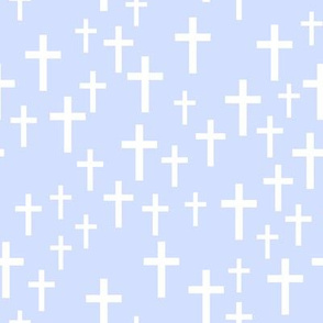 Crosses on light periwinkle - LAD19