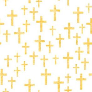 Crosses in gold watercolor - LAD19