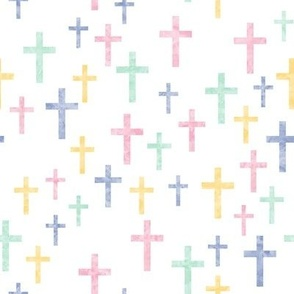 Crosses in multi watercolor - LAD19