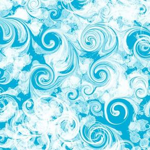 Beach Blue Parfait Swirl
