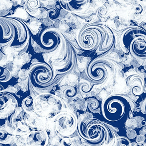 Navy Parfait Swirl