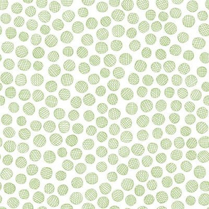 hatched pen and ink polkadots - greenery
