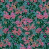 Flower Garden Abstract Watercolor