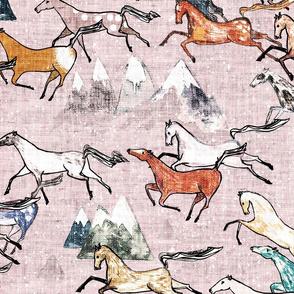 Wild Bush Horses (Blossom) LRG