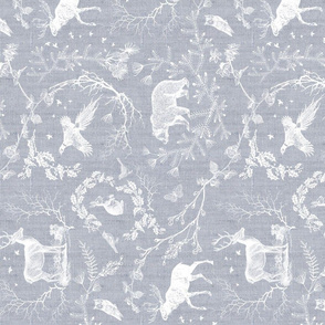 Woodland Winter Toile (snow) rotated
